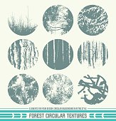 Forest circular textures