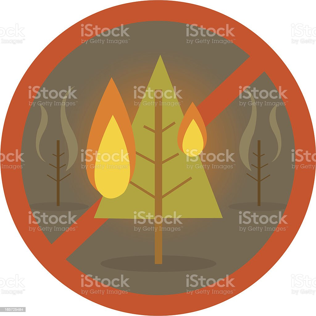 Forest Fire Area vector art illustration