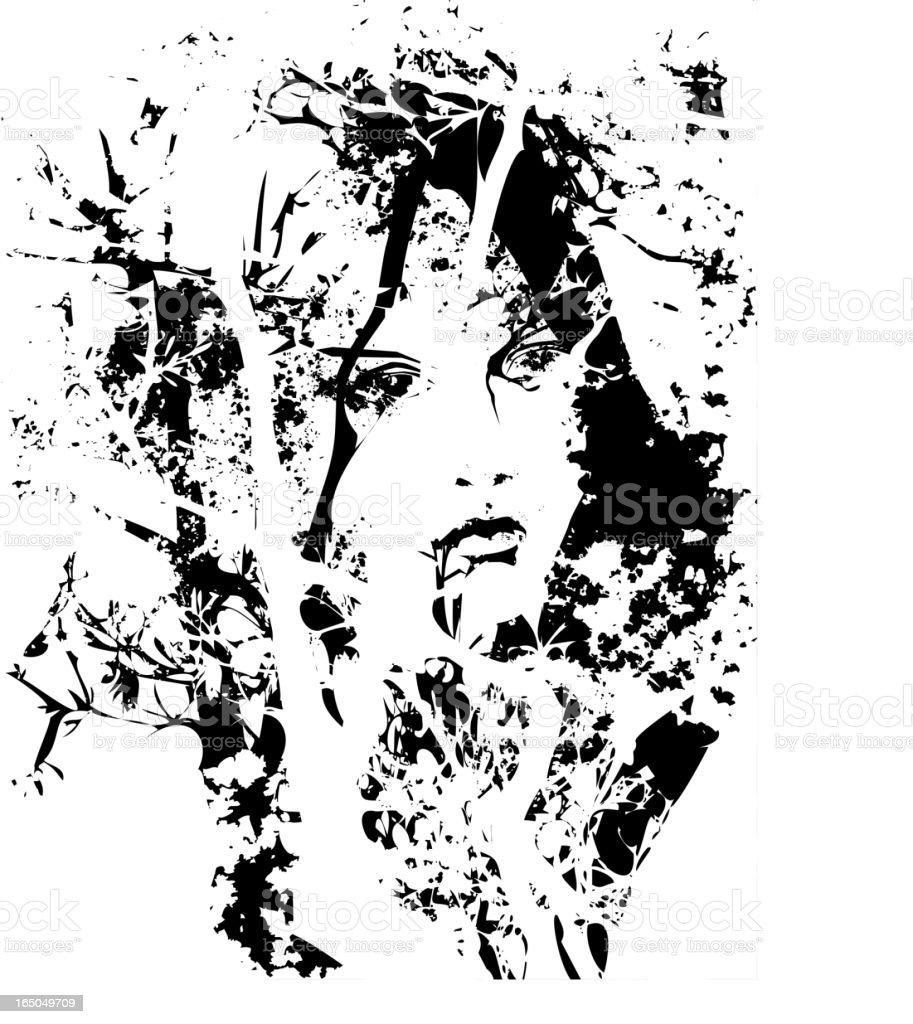 Forest Girl royalty-free stock vector art
