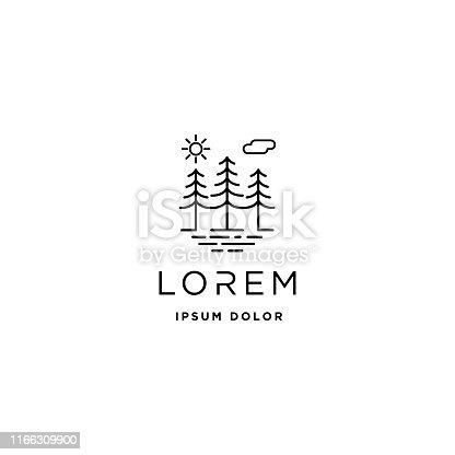 Forest icon Vector design landscape symbol