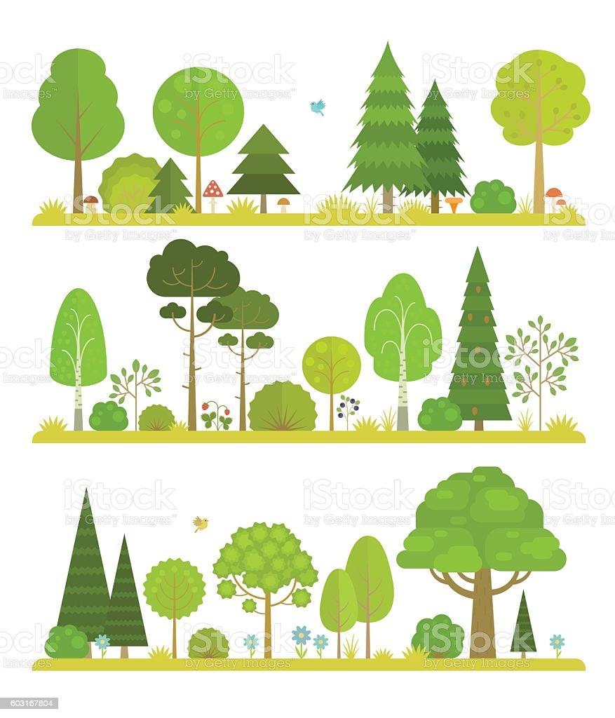 森林の風景 ベクターアートイラスト