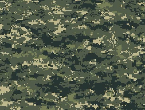 ilustrações, clipart, desenhos animados e ícones de textura de pixels militar de floresta - forças armadas