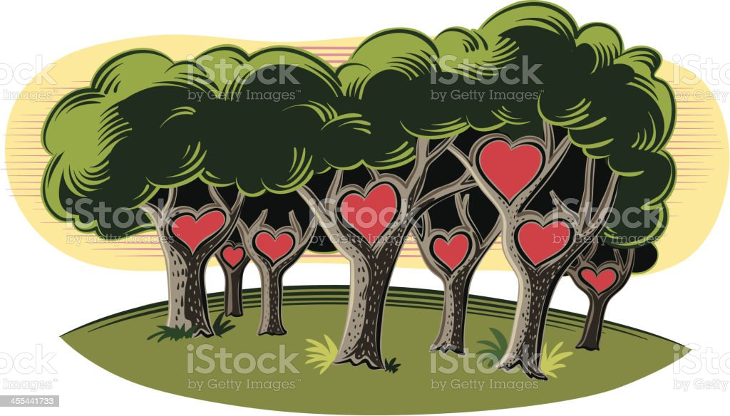 forest of love royalty-free forest of love stock vector art & more images of art product