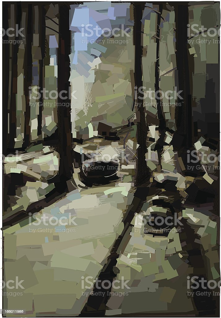 Forest Painting royalty-free stock vector art
