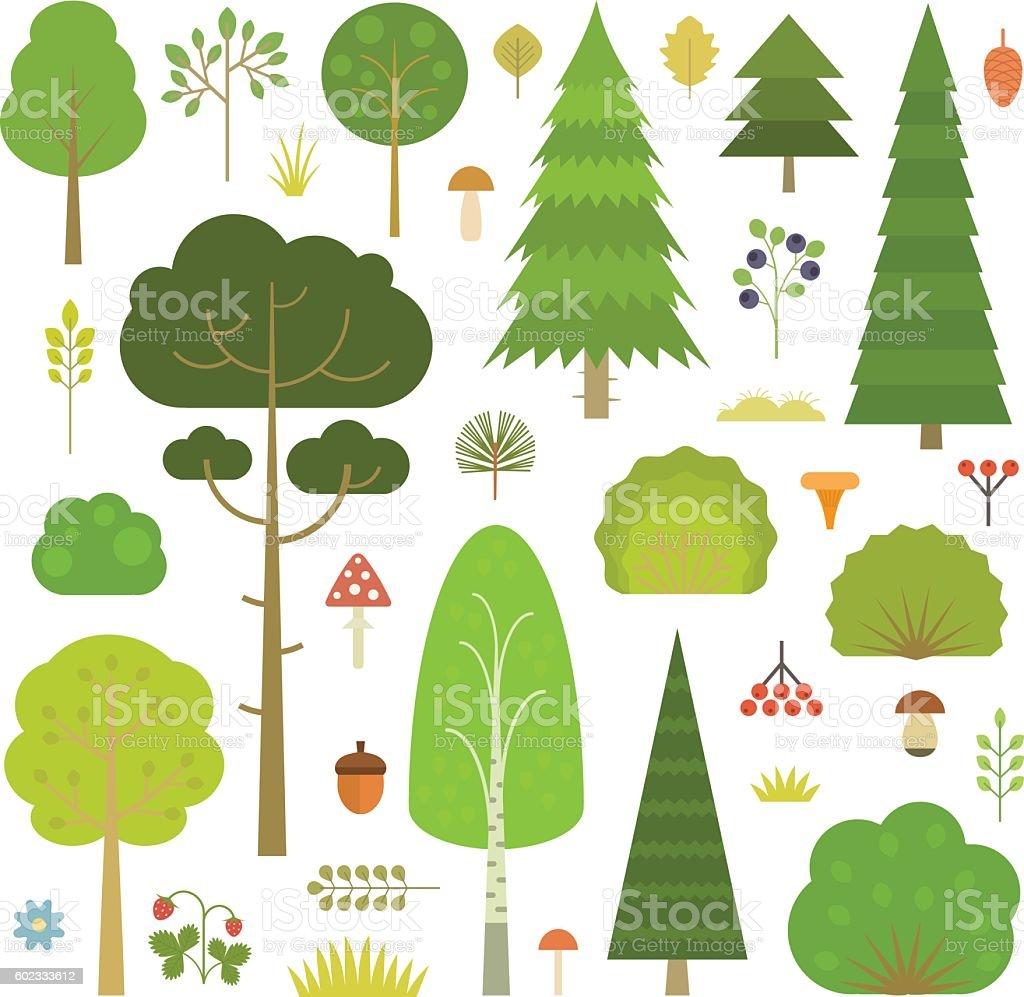 Floresta de plantas - ilustração de arte em vetor