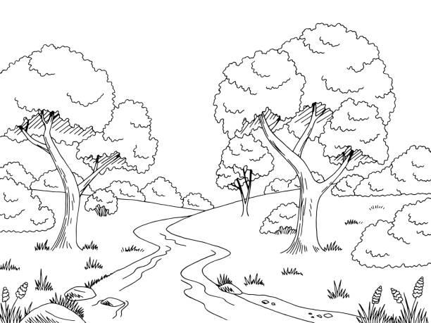 Royalty Free Black River Cartoons Clip Art, Vector Images