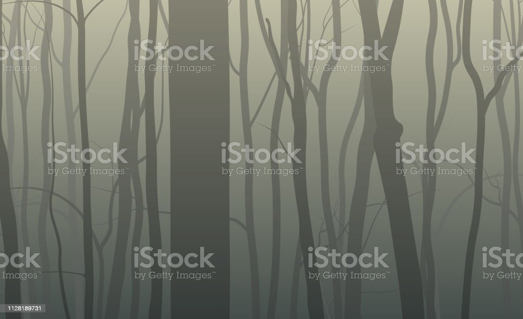 Forest silhouette background - Royalty-free Abstrato arte vetorial