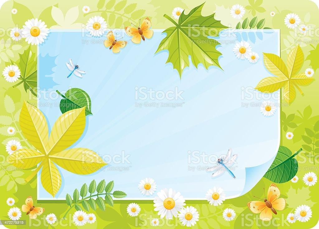 Forest spring frame royalty-free stock vector art