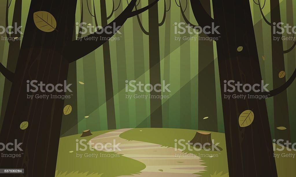 Forest Trail - ilustración de arte vectorial