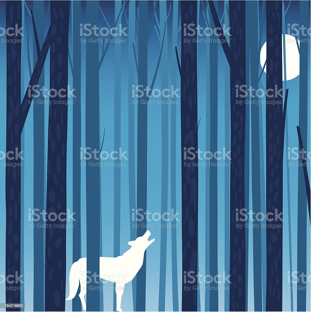 Forest tree background royalty-free stock vector art