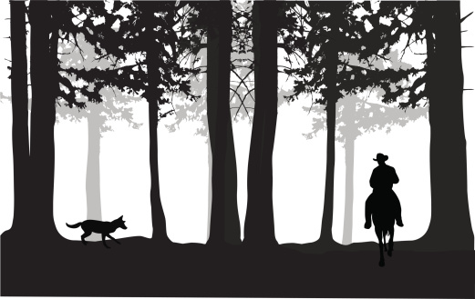 Forest Vector Silhouette