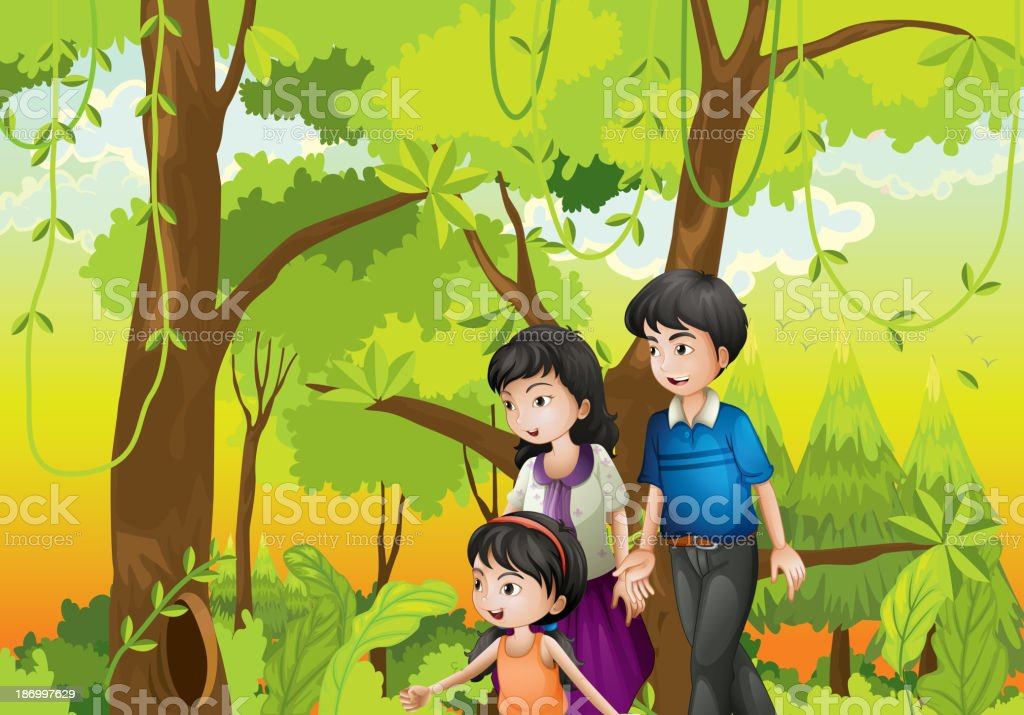 forest with a family royalty-free forest with a family stock vector art & more images of adult