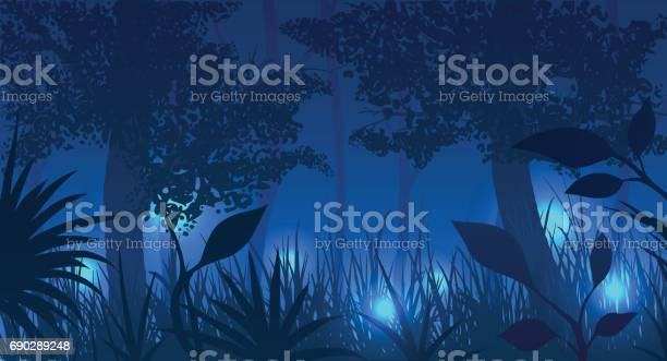 Forest with glowing fireflies at night vector illustration vector id690289248?b=1&k=6&m=690289248&s=612x612&h=5unw2frpjvkkml7am8etchfxlpmfmjl4ezwiqb9h fg=