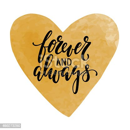 Forever And Always Hand Drawn Calligraphy And Brush Pen Lettering