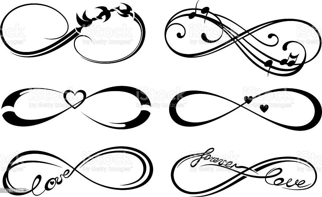Forever Symbols vector art illustration