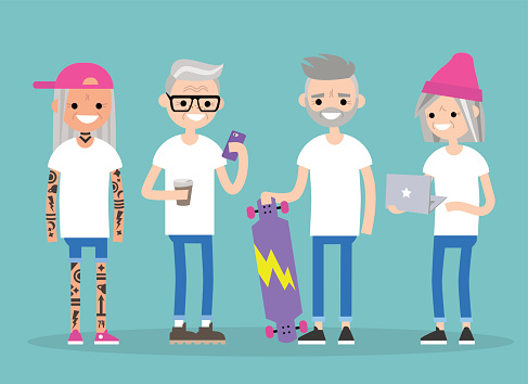 Millenials lifestyle stock illustrations