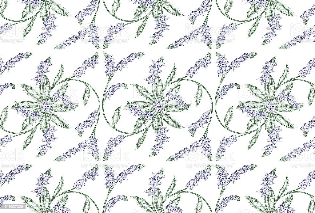 Forget-me-not floral pattern vector art illustration