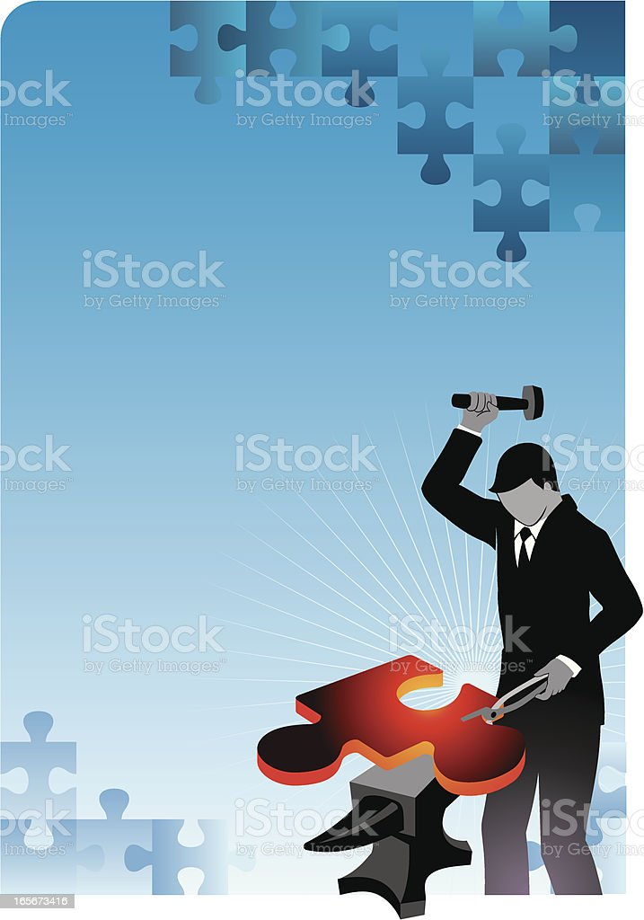 Forging Solution royalty-free stock vector art