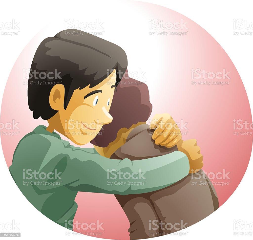 Forgive others vector art illustration