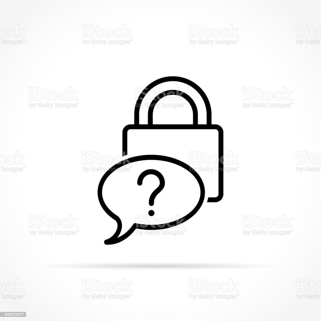 forgot password icon on white background vector art illustration