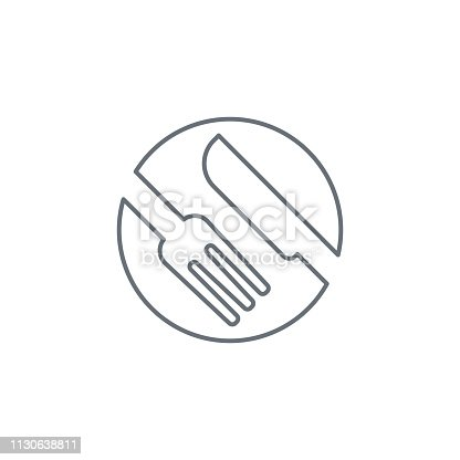 istock Fork and Knife Icon 1130638811