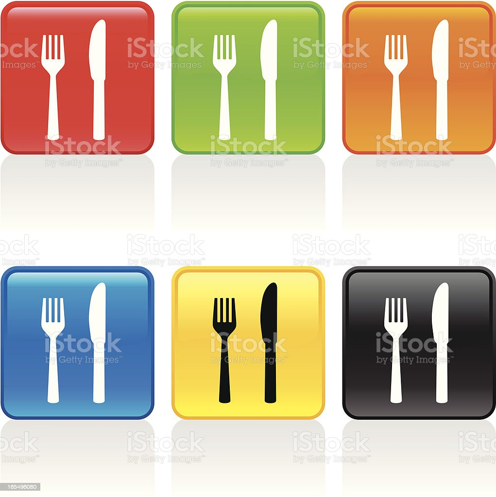Fork and Knife Icon royalty-free stock vector art