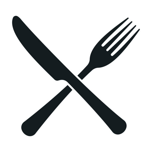 Fork and knife. Restaurant sign. Vector Fork and knife. Restaurant sign. Vector illustration fork stock illustrations