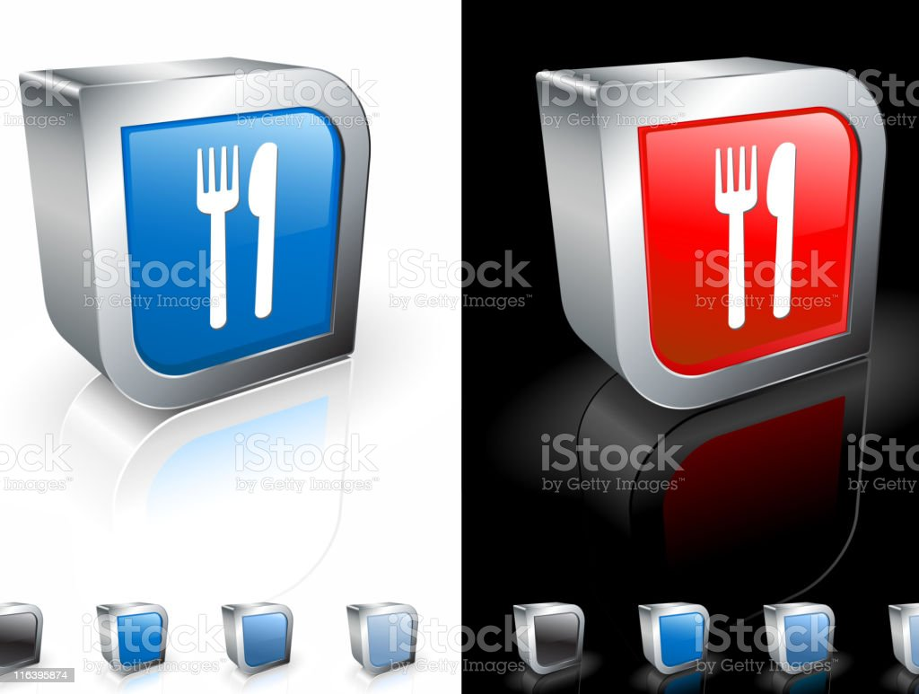 fork and knife square royalty free vector art royalty-free stock vector art