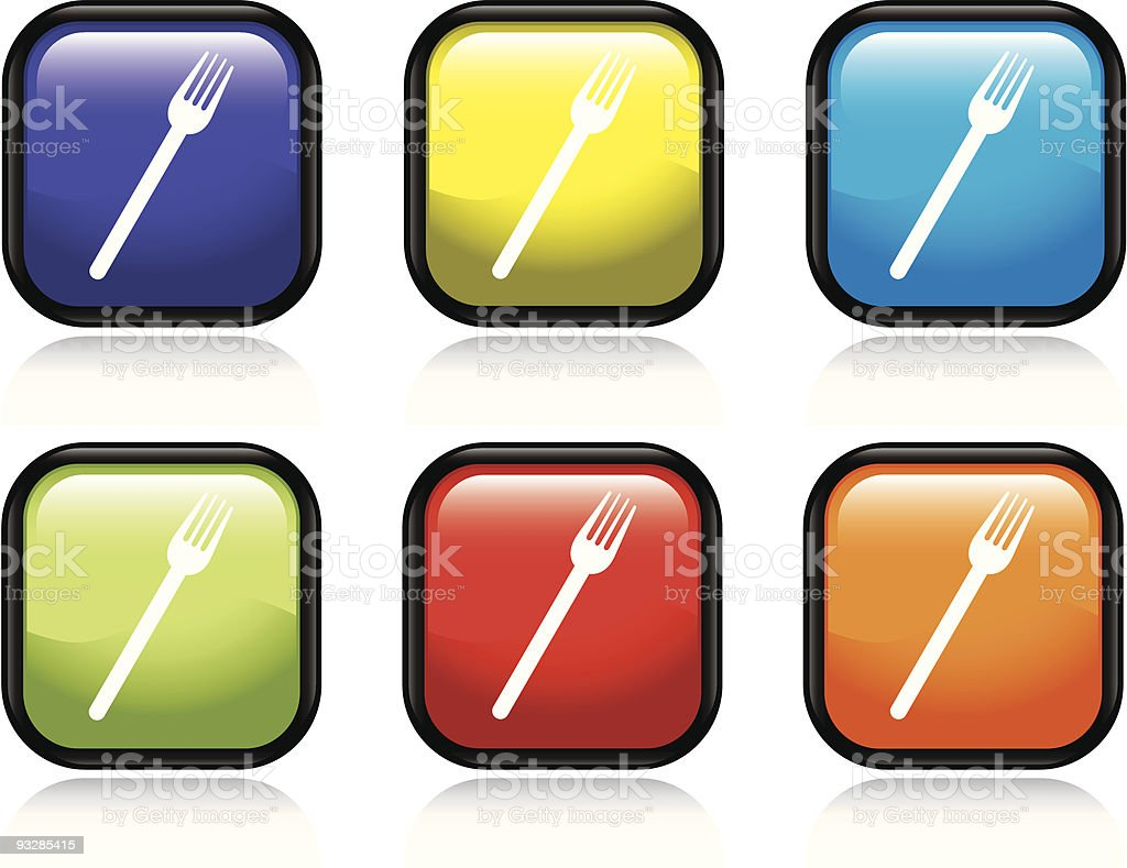 Fork Icon royalty-free fork icon stock vector art & more images of black color