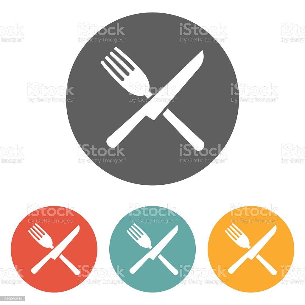 fork knife icon vector art illustration