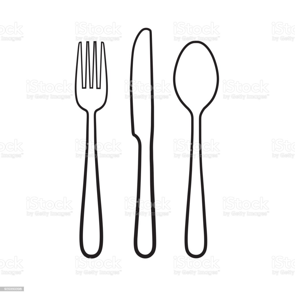 Fork Spoon Knife Icon Sign Symbol Stock Vector Art More Images Of