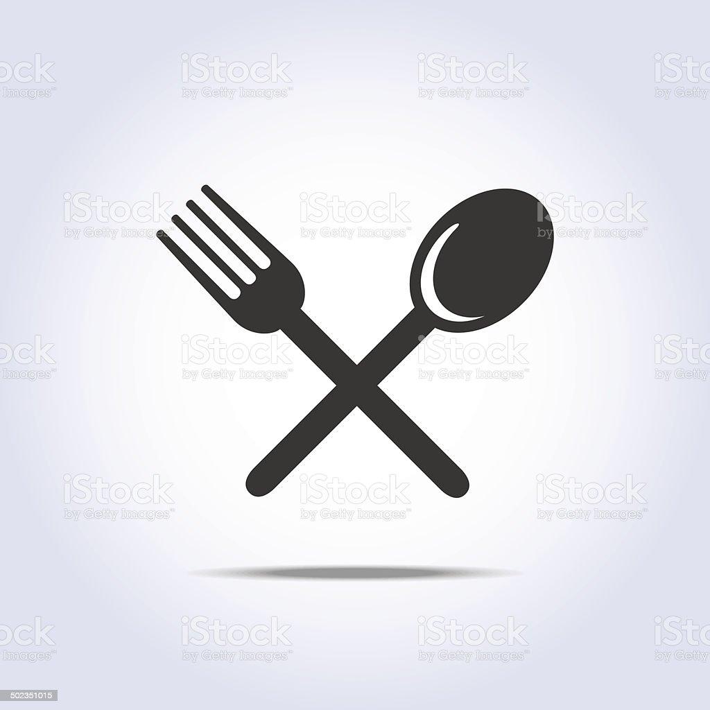 fork spun icon vector art illustration