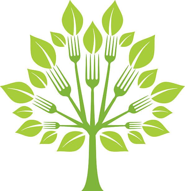Fork arbre - Illustration vectorielle