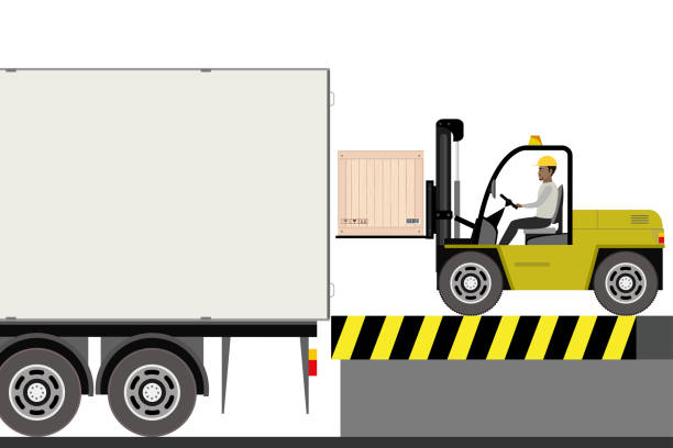 stockillustraties, clipart, cartoons en iconen met heftruck chauffeur arbeidsongevallen in magazijn - warehouse worker