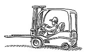 Forklift Truck Drawing