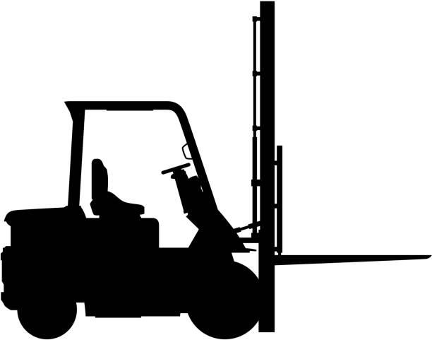 Forklift Truck vector art illustration