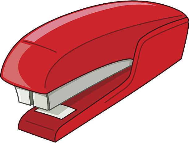 Best Stapler Red Secretary Business Illustrations, Royalty ...
