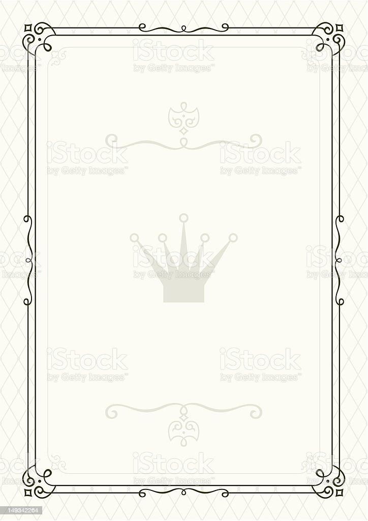 Form for diploma or certificate royalty-free stock vector art