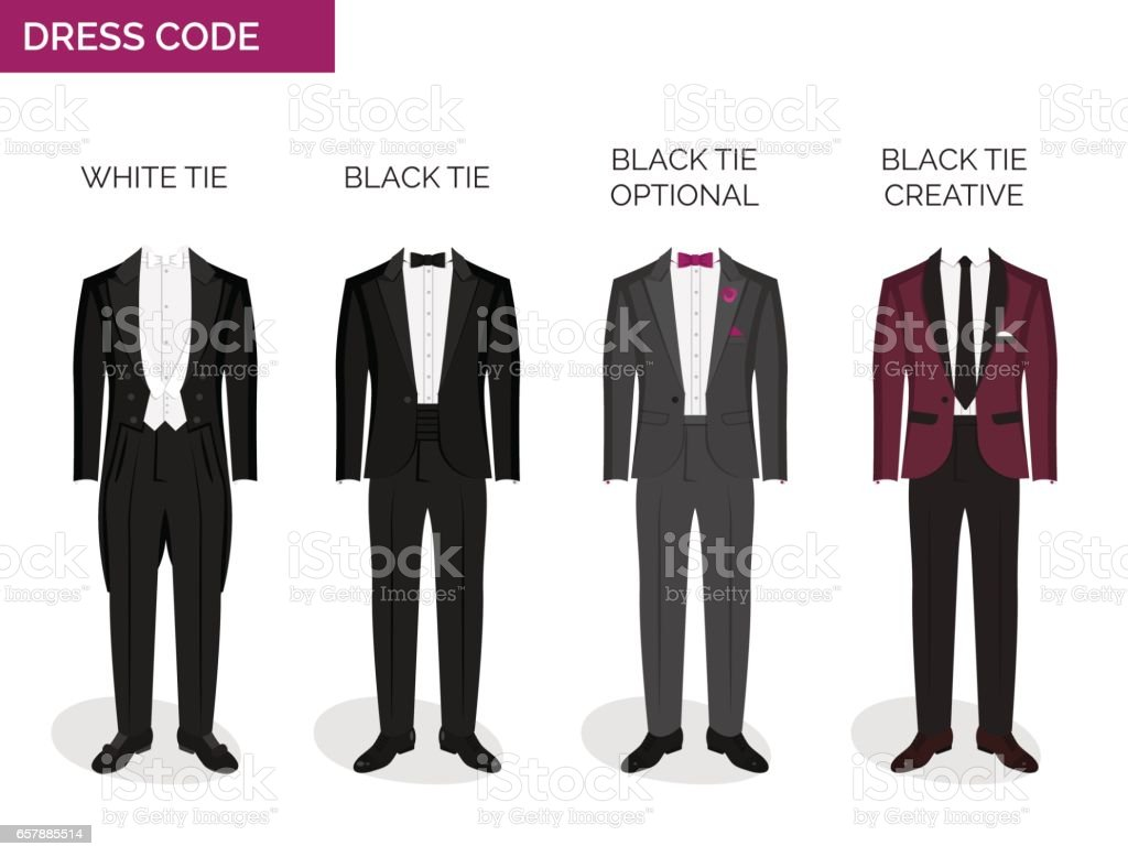 grande vendita prezzo accessibile l'ultimo Formal Dress Code Guide For Men - Immagini vettoriali stock e ...