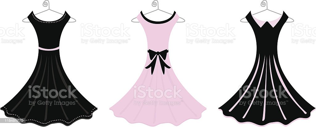 Formal Dresses vector art illustration