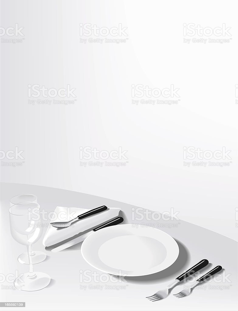 Formal place setting royalty-free formal place setting stock vector art & more images of breakfast