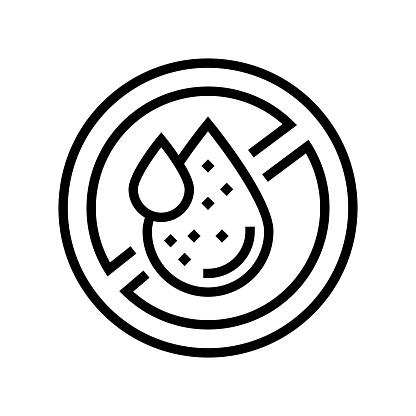 formaldehyde free keratin line icon vector illustration