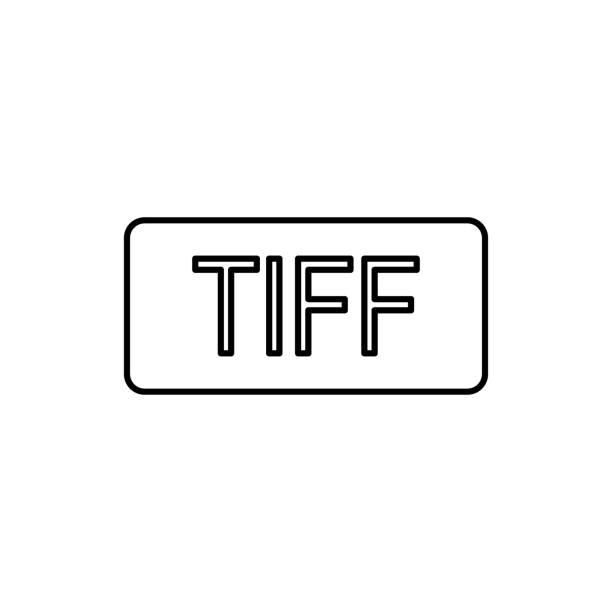 TIFF-indeling pictogram. Element van eenvoudige pictogram voor websites, webdesign, mobiele app, info-graphics. Dunne lijn pictogram voor websiteontwerp en ontwikkeling, app ontwikkelingvectorkunst illustratie