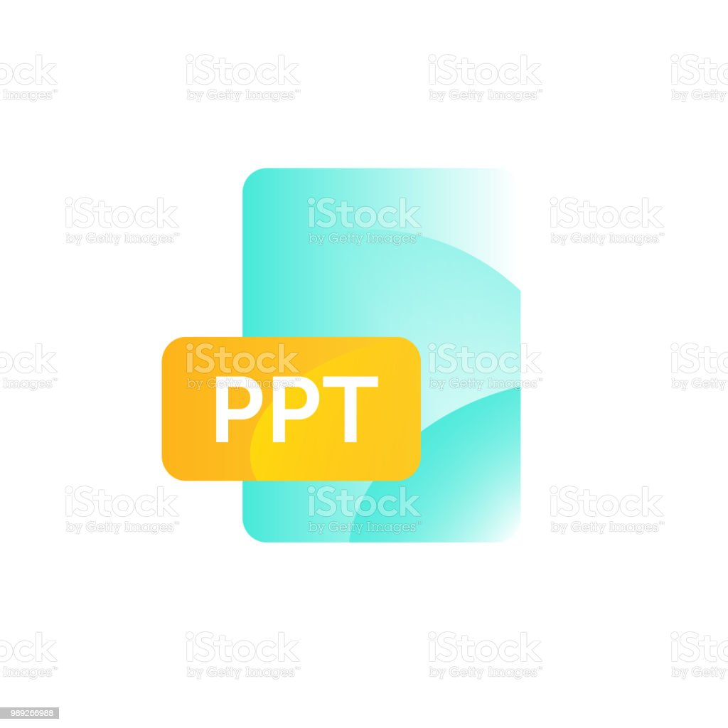 ppt format icon vector gradient flat style bright fashionable