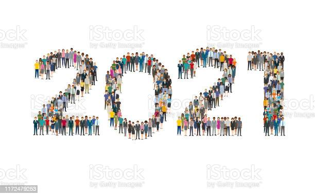 2021 Formed Out From People Stock Illustration - Download Image Now