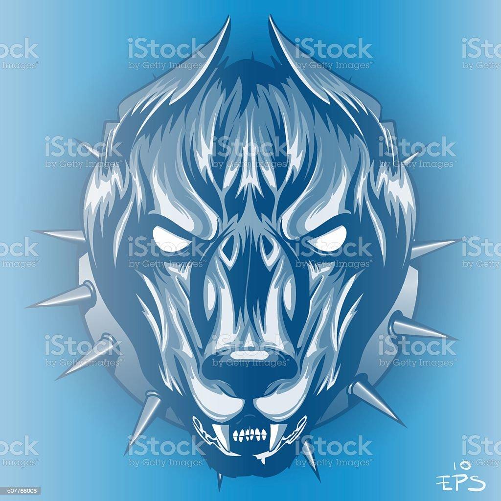 formidable dog vector art illustration