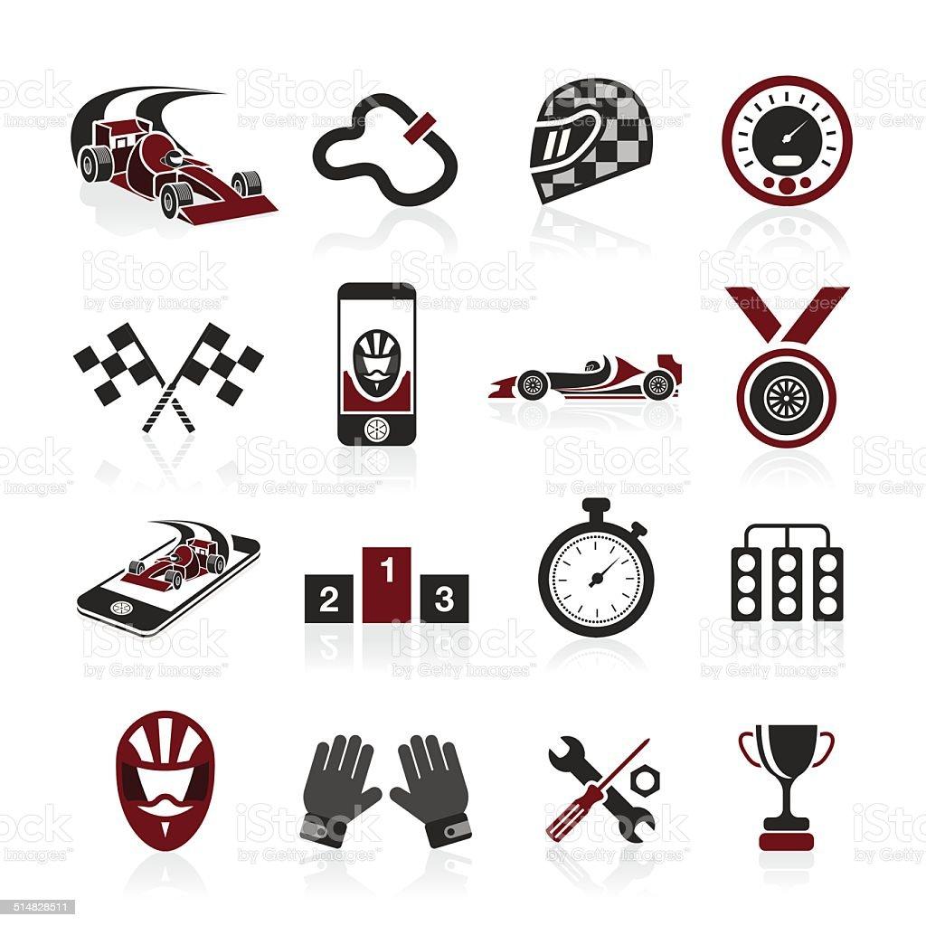 Formula 1 icon set, sport icons and sticker