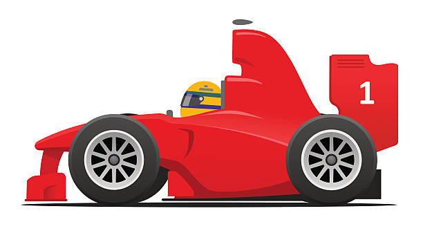 Formula 1 red race car  indy racing league indycar series stock illustrations