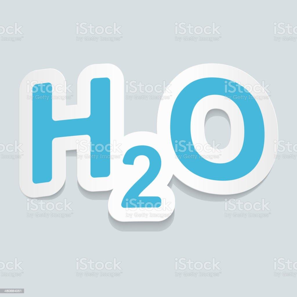 frmula de agua h2o seal adhesivo ilustracin vectorial frmula de agua h2o seal adhesivo - Tabla Periodica De Los Elementos H2o