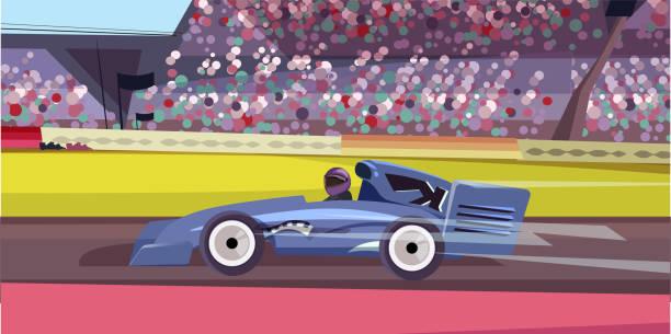 formula one championship flat vector illustration - formula 1 stock illustrations